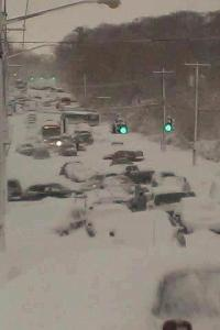 suffolk County, Long Island, NY. Route 25, nearly 30inches of snow fell